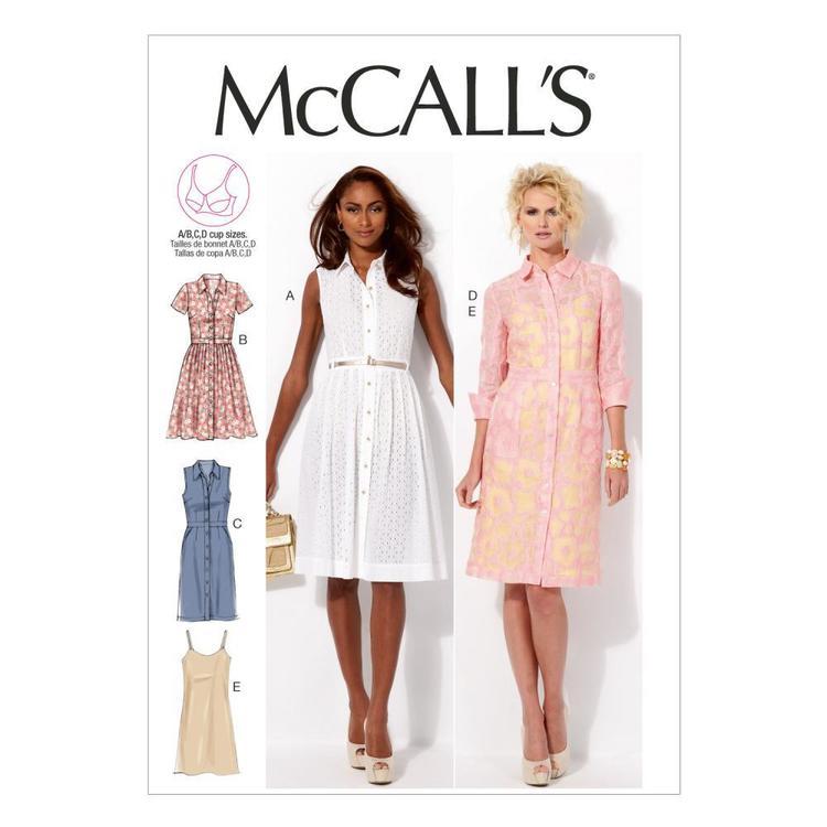 McCall's Pattern M6696 Misses' Dresses & Slip