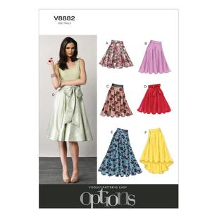 Vogue Pattern V8882 Misses' Skirt