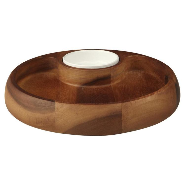 Culinary Co Acacia Wood Chip N Dip