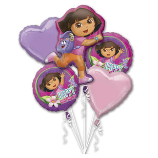 Amscan Dora The Explorer Foil Bouquet Balloons