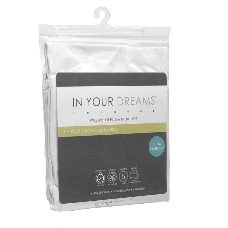 In Your Dreams Bamboo Pillow Protector White Standard