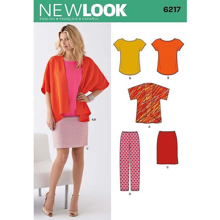 New Look Pattern 6217 Women's Coordinates