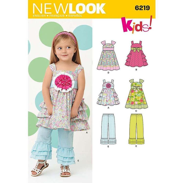 New Look Pattern 6219 Girl's Coordinates  6 Months - 4 Years