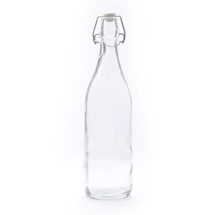 Glass Round Water Bottle