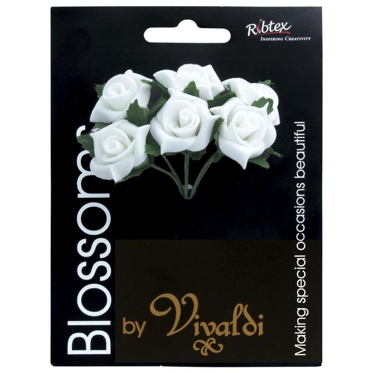 Vivaldi Blossoms 6 Head Foam Rose