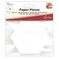 Sew Easy Hexagon Paper Pieces  White