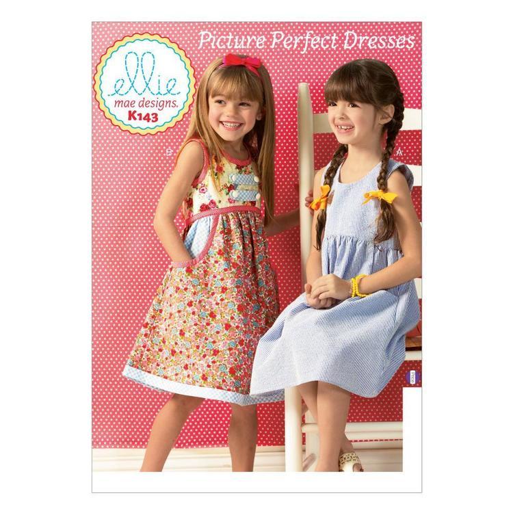 Kwik Sew Pattern K0143 Girls' Dresses