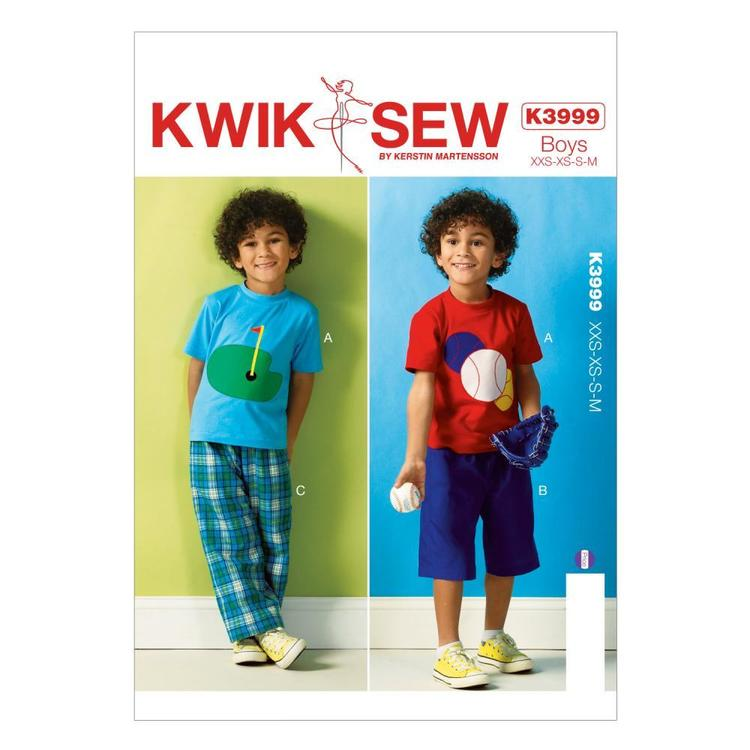Kwik Sew Pattern K3999 Boys' Top Shorts & Pants