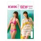 Kwik Sew K4003 Misses' Cover-Up & Swimsuit One Size
