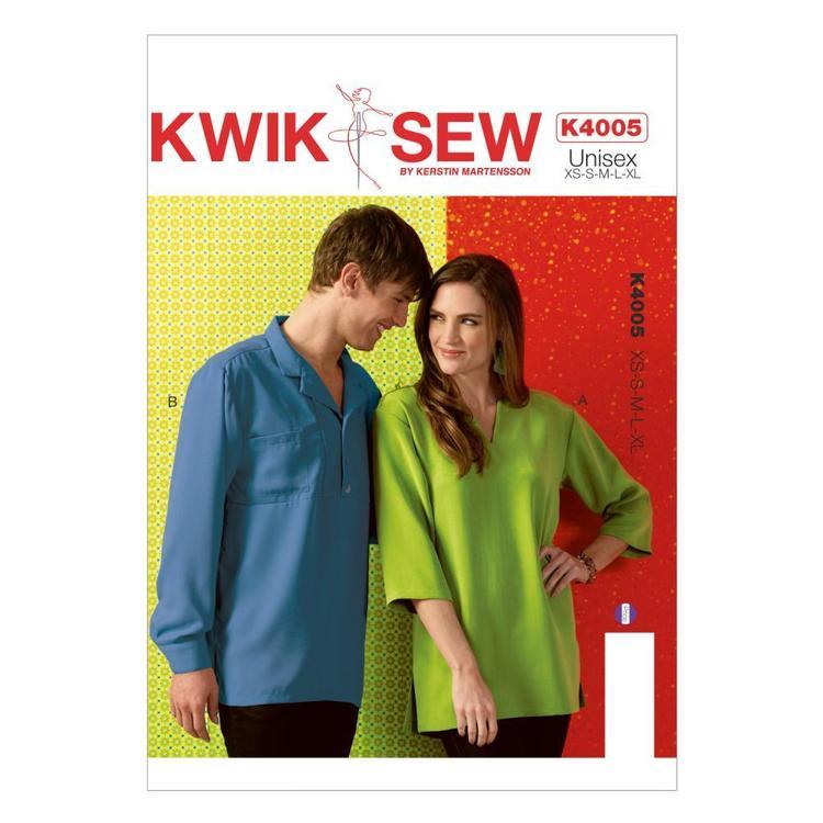 Kwik Sew Pattern K4005 Unisex Shirts
