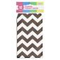 Chevron Paper Treat Bag 12 Pack Black