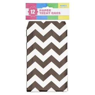 Chevron Paper Treat Bag 12 Pack