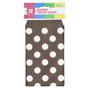 Dots Paper Treat Bag 12 Pack