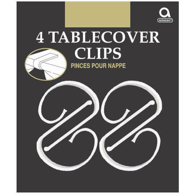 Amscan Table Cover Clip Clear