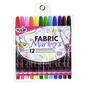 Tulip 12 Piece Fabric Markers Multicoloured
