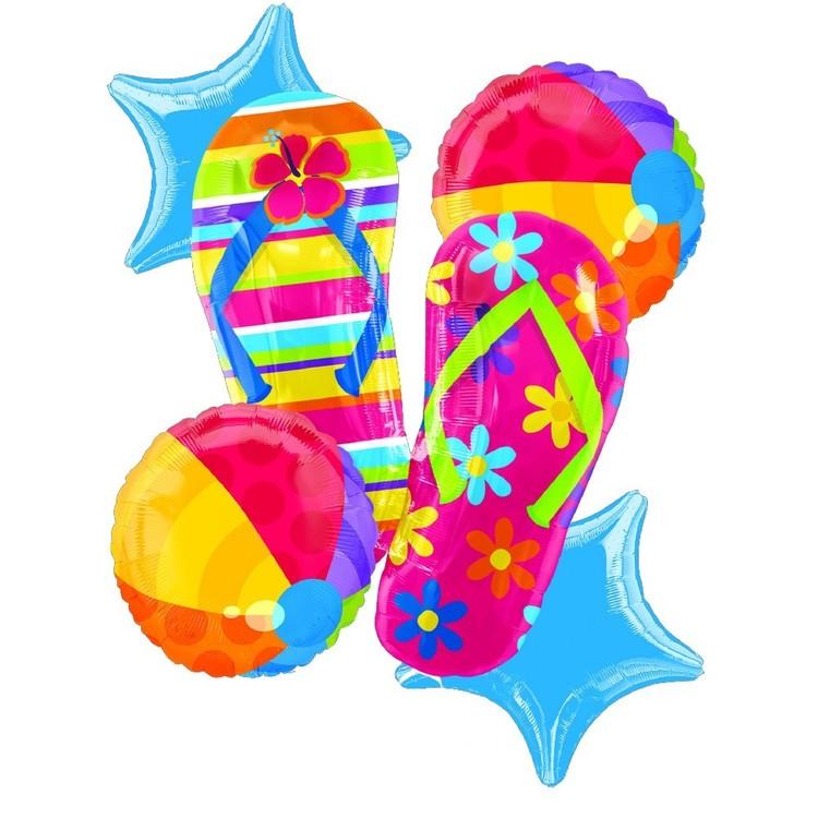 Amscan Foil Flip Flop Balloon Bouquet