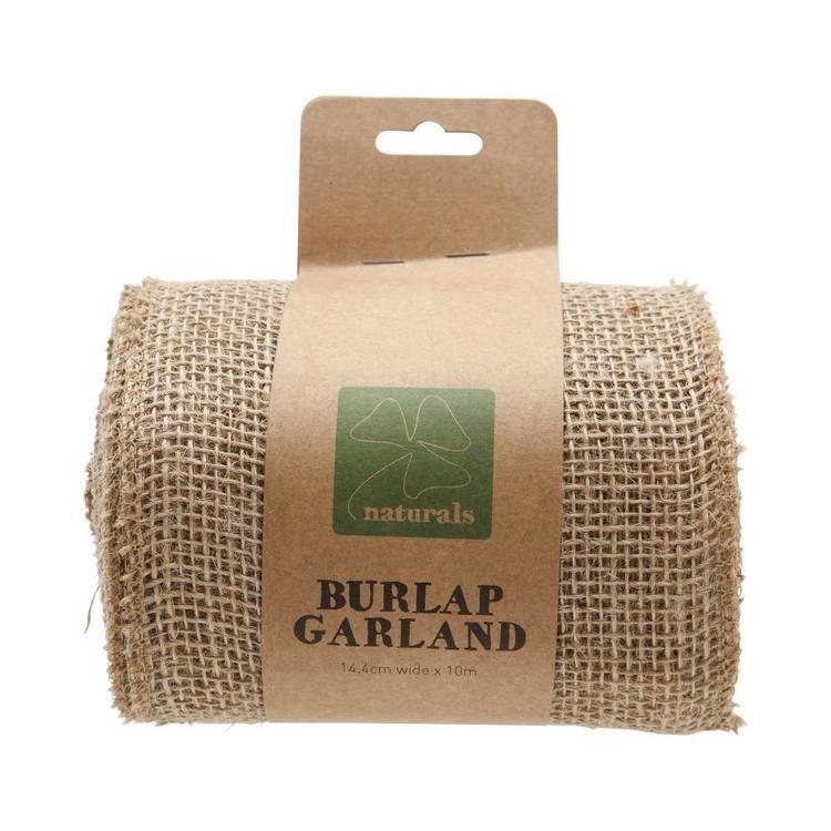 Shamrock Craft Naturals Burlap Garland