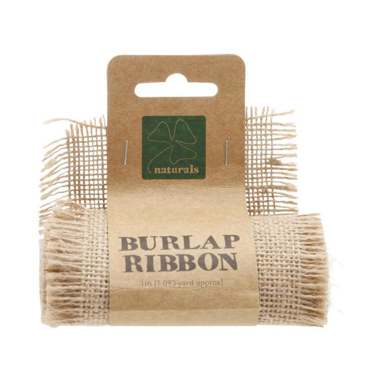 Shamrock Craft Naturals Burlap Ribbon