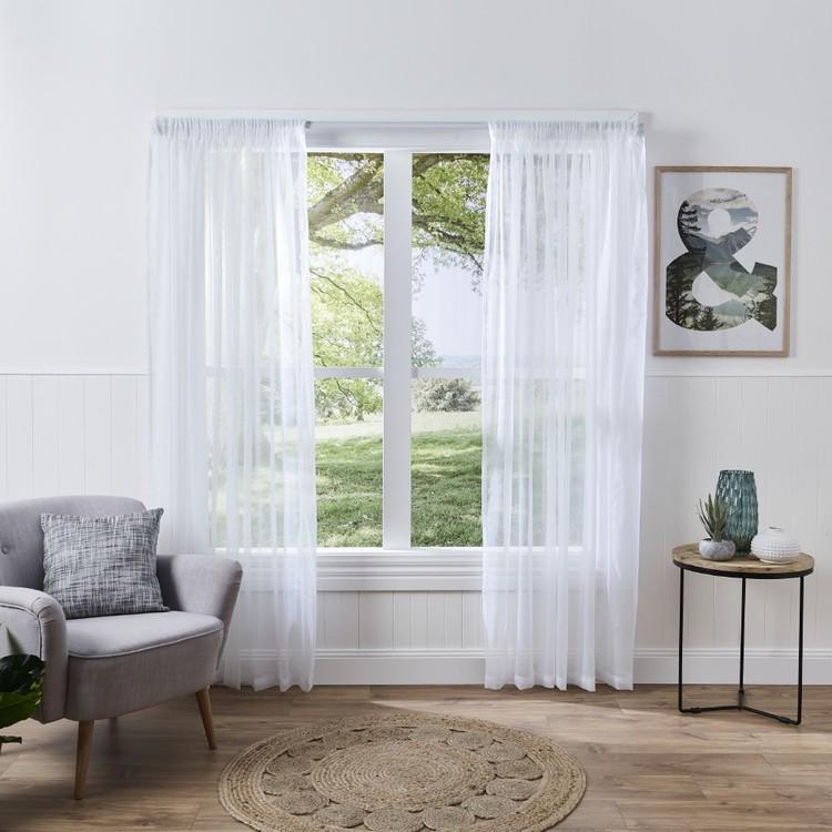 Filigree Sienna Pencil Pleat Sheer Curtains