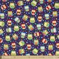 Sugar & Spice Night Owl All Over Fabric Blue 112 cm