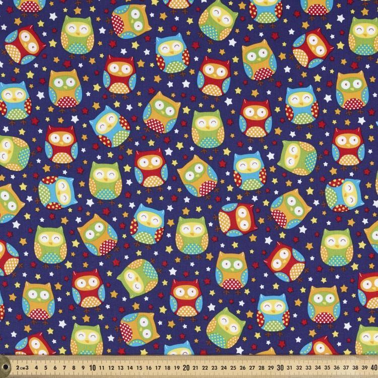 Sugar & Spice Night Owl All Over Fabric