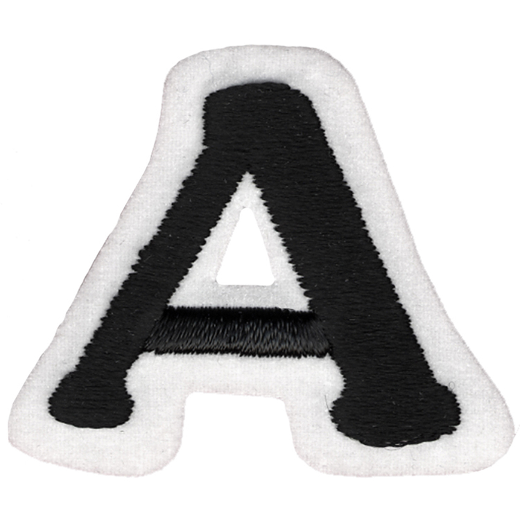 Simplicity Embroidered Letter A Iron On Motif