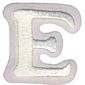 Simplicity Embroidered Letter E Iron On Motif