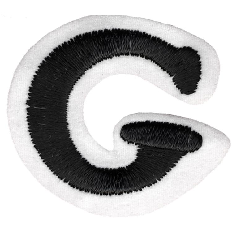 Simplicity G Embroidered Letter Motif