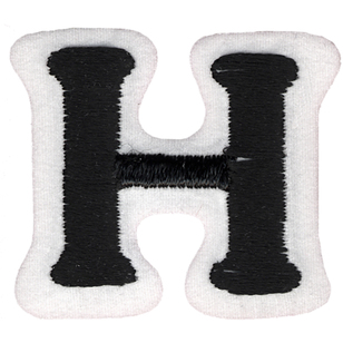 Simplicity Embroidered Letter H Iron On Motif