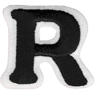 Simplicity Embroidered Letter R Iron On Motif