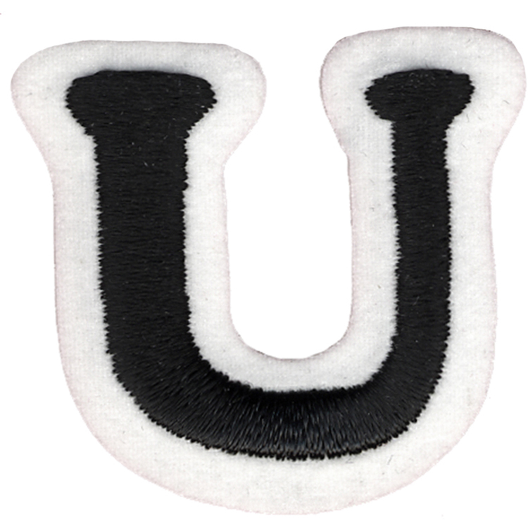 Simplicity Embroidered Letter U Iron On Motif