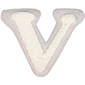 Simplicity Embroidered Letter V Iron On Motif