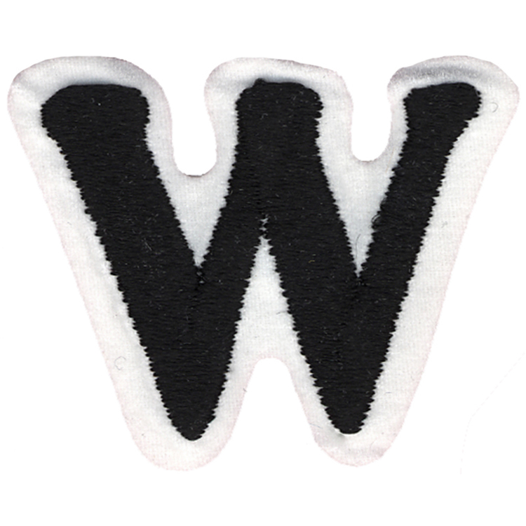 Simplicity Embroidered Letter W Iron On Motif