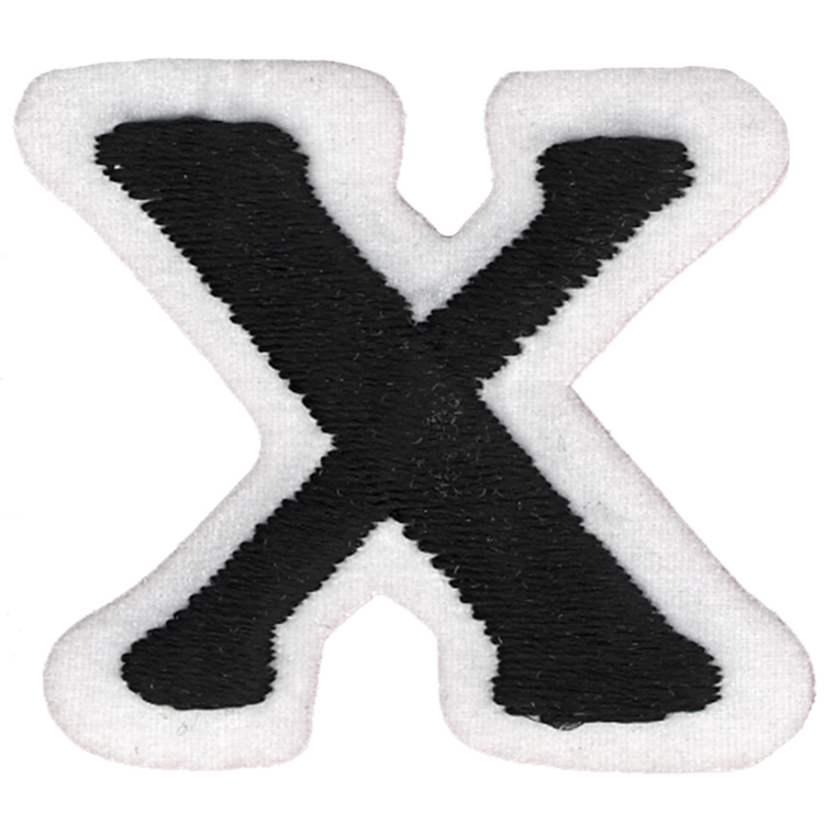 Simplicity Embroidered Letter X Iron On Motif
