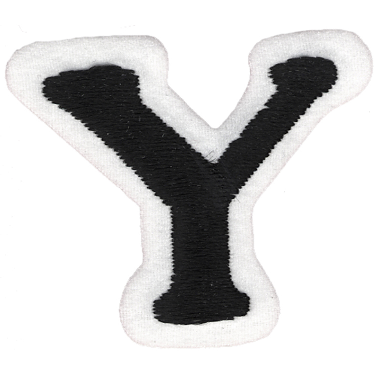 Simplicity Embroidered Letter Y Iron On Motif