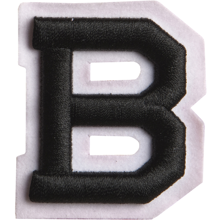 Simplicity Raised Letter B Iron On Motif