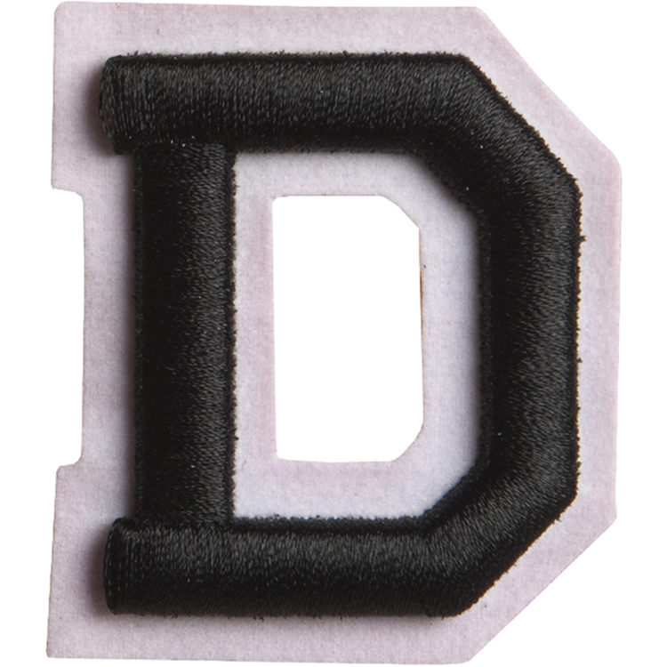 Simplicity Raised Letter D Iron On Motif