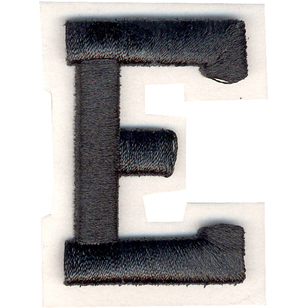Simplicity Raised Letter E Iron On Motif