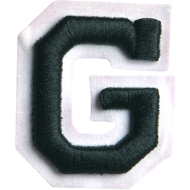 Simplicity Raised Letter G Iron On Motif