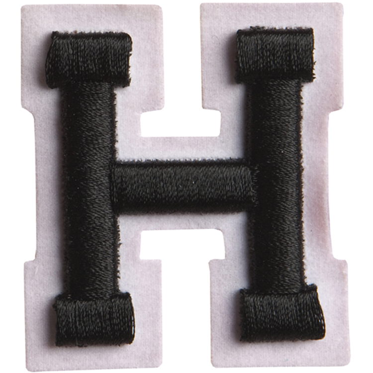 Simplicity Raised Letter H Iron On Motif