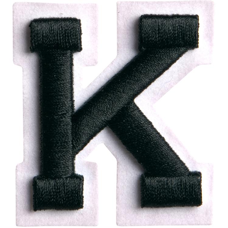 Simplicity Raised Letter K Iron On Motif