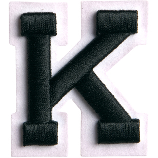 Simplicity Raised Letter K Iron On Motif