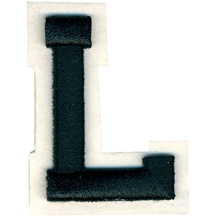 Simplicity Raised Letter L Iron On Motif