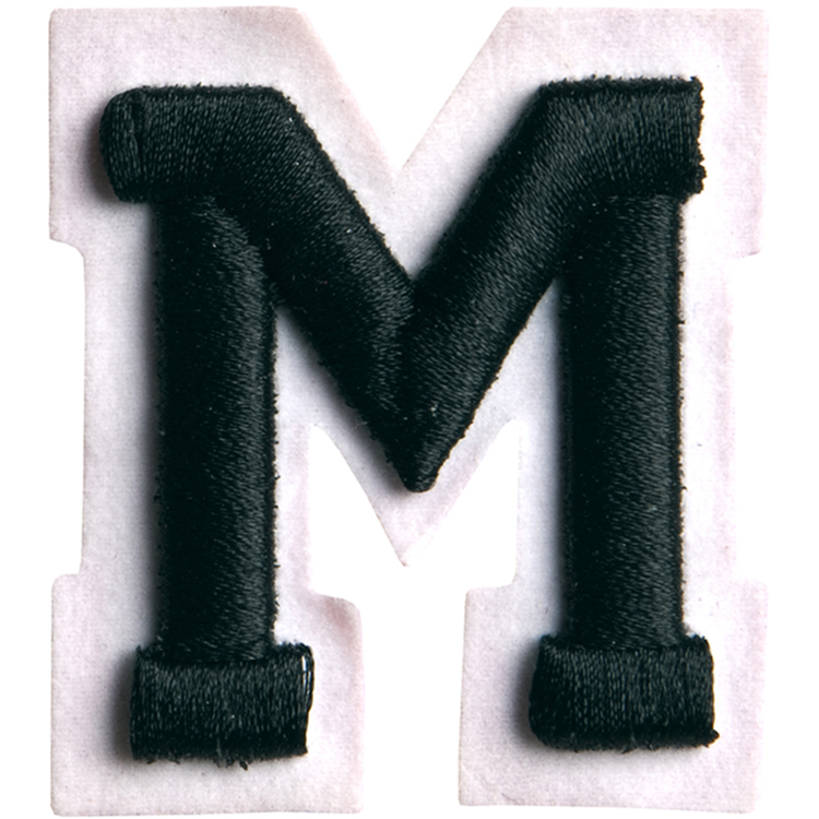 Simplicity Raised Letter M Iron On Motif