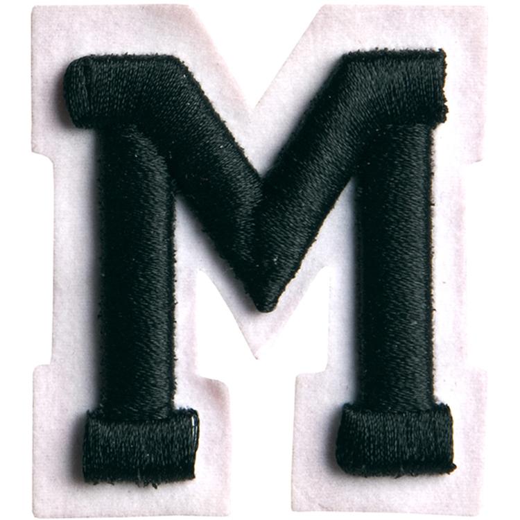 Simplicity Raised Letter M Iron On Motif