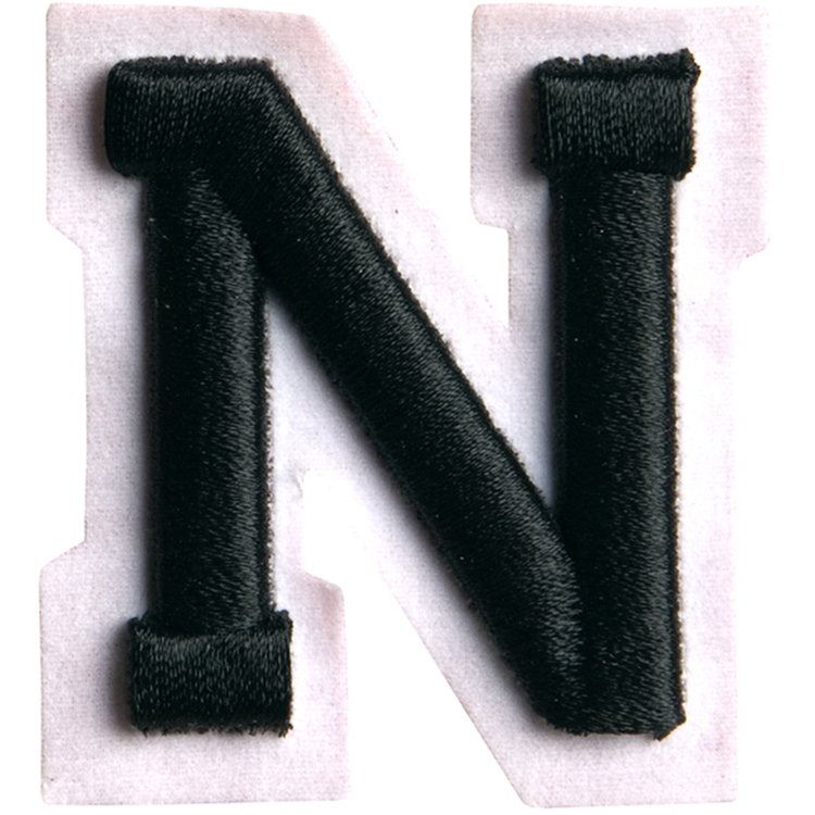 Simplicity Raised Letter N Iron On Motif