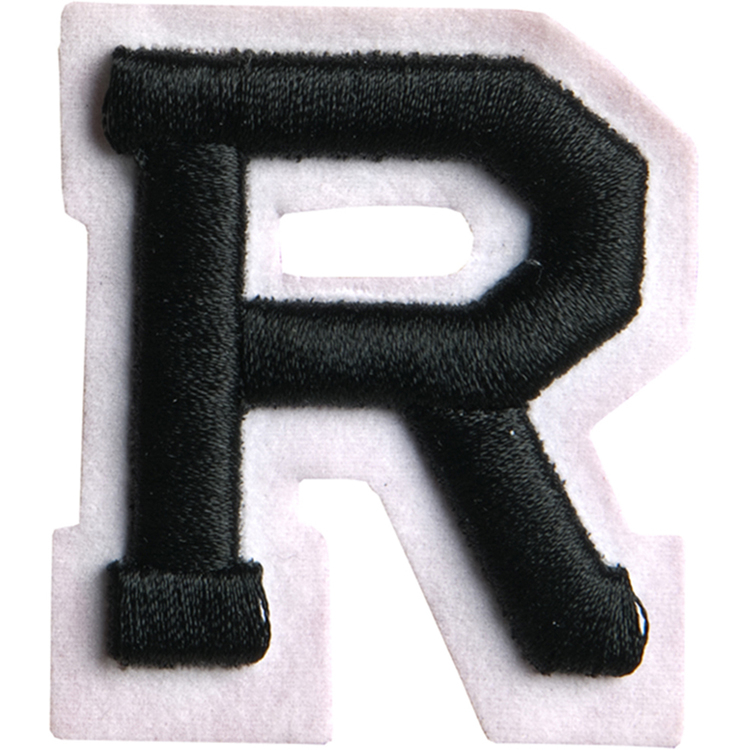 Simplicity Raised Letter R Iron On Motif