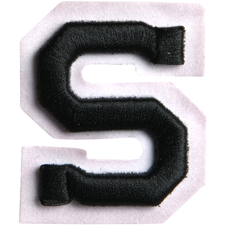 Simplicity Raised Letter S Iron On Motif