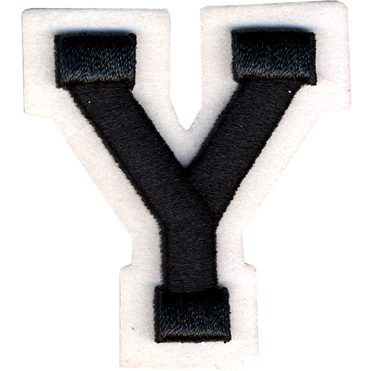 Simplicity Raised Letter Y Iron On Motif