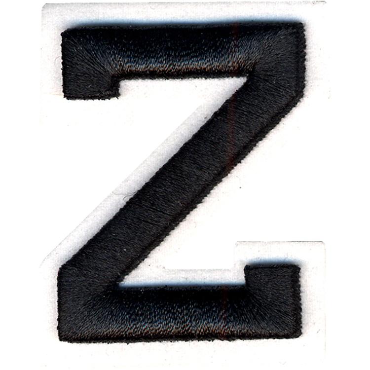Simplicity Raised Letter Z Iron On Motif